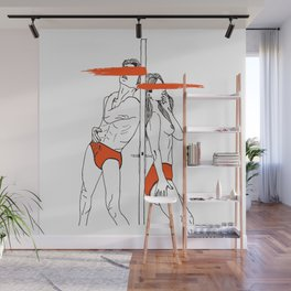 LOVE is obstacles Wall Mural