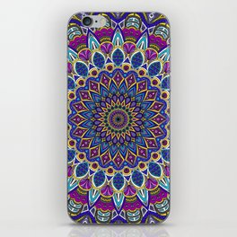 Sapphire Mandala iPhone Skin