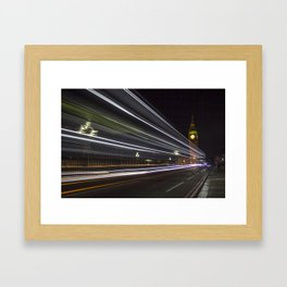 time past fast Framed Art Print