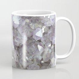 Sparkling Clear Light Purple Amethyst Crystal Stone Coffee Mug