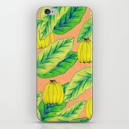 Banana Jungle - Peach iPhone Skin