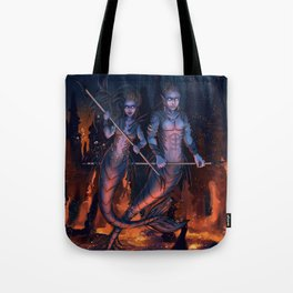 Warriors of the Deep Tote Bag