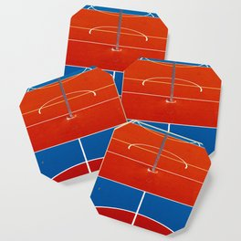 The Court in Red and Blue (Color) Coaster