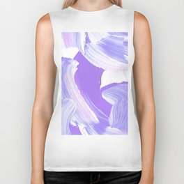 Shades of Purple Brush Stroke pattern #abstractart Biker Tank