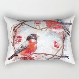 Bullfinches Rectangular Pillow