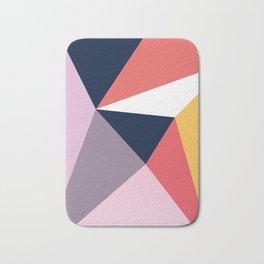 Modern Poetic Geometry Bath Mat
