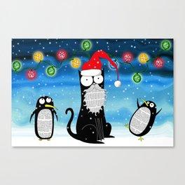 Santa Claws  Canvas Print