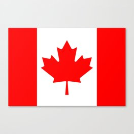 Canadian National flag, Authentic color and 3:5 scale version Canvas Print