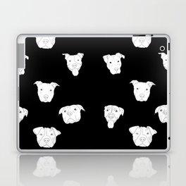 Black pit bull love Laptop & iPad Skin