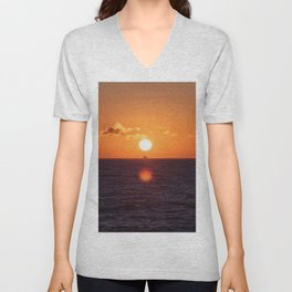 between suns and over  the oceans Unisex V-Neck