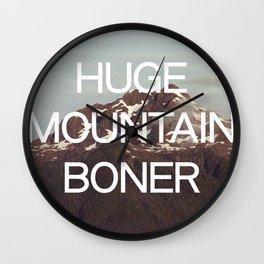 Huge Mountain Boner Wall Clock