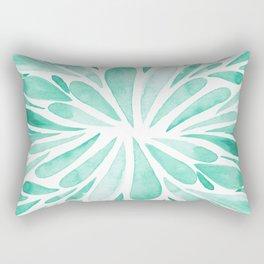 Symmetrical drops - aqua Rectangular Pillow