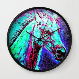 Neon Horse Wall Clock