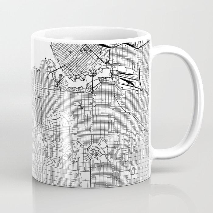 Vancouver White Map Coffee Mug