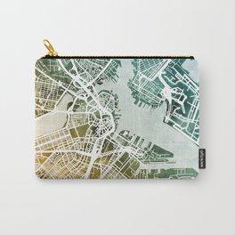 Boston Massachusetts Street Map Carry-All Pouch