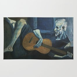 Pablo Picasso - The Old Guitarist Rug