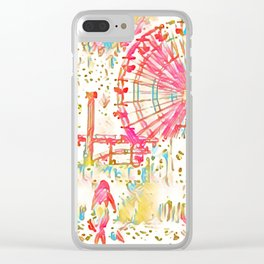 Santa Monica Pier - Art 011 Clear iPhone Case