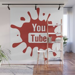 youtube youtuber - best designf or YouTube lover Wall Mural