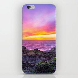 California Dreaming - Brilliant Sunset in Big Sur iPhone Skin