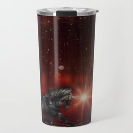 Black Unicorn on the Stage Travel Mug