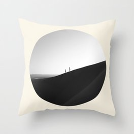 Zen Minimalist Desert Dune Throw Pillow
