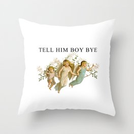 BOY, BYE Throw Pillow