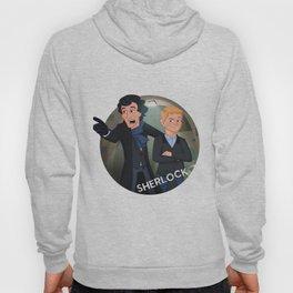 Sherlock Holmes and Watson cartoon Hoody