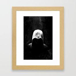 Native Assassin Hood - B&W Framed Art Print