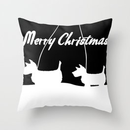 Westie White Christmas Throw Pillow