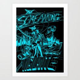 Screaming Vigilante Art Print