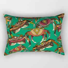 crabs green Rectangular Pillow
