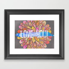 Love you - Boho Gypsy Soul Mandala Framed Art Print