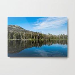 Yellowstone Reflective Lake Metal Print