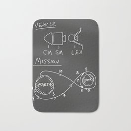 Apollo Moon landing Chalkboard. Bath Mat