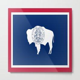 flag wyoming,america,usa,west,moutain, equality,Wyomingite,Cheyenne,Casper,Laramie Metal Print
