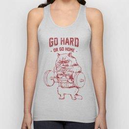 Go Hard or Go home Cat Unisex Tank Top