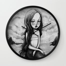 Sad Mermaid Wall Clock