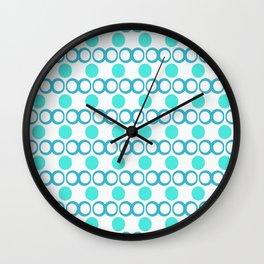 Retrocity in Aquatic Blue... Wall Clock