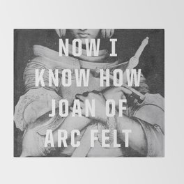 Joan of Arc Throw Blanket