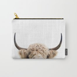 Peeking Highland Cow Carry-All Pouch