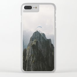 Flying Mountain Explorer - Landscape Photography Clear iPhone Case