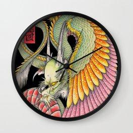 応龍図 WING DRAGON Wall Clock