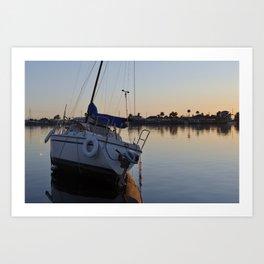 Lazy Sail Boat  Art Print