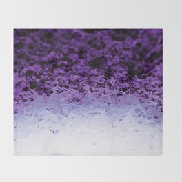 Purple Crystal Ombre Throw Blanket