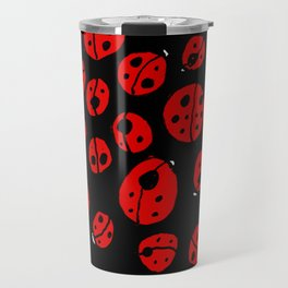 Ladybugs (Red on Black Variant) Travel Mug