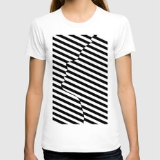 Side face Womens Fitted Tee LARGE White