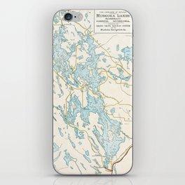 Vintage Muskoka Lakes Map iPhone Skin