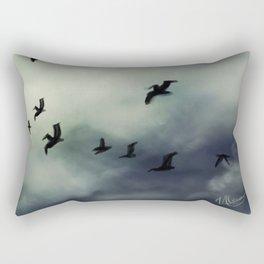 Rising Seagulls  Rectangular Pillow