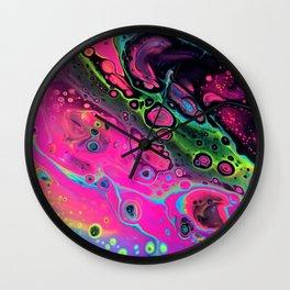 Neon Acid Wall Clock