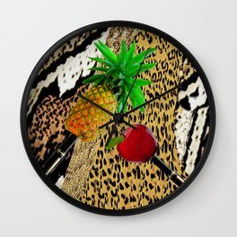PPAP!  Pen Pineapple Apple Pen Wall Clock